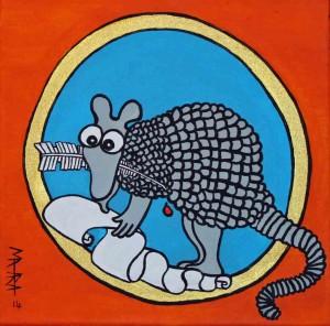 Die Künstlerin Mahara hat das Tatubola zu diesem Bild inspiriert. @ Mahara