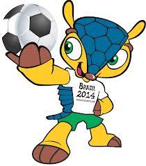 So sieht das Maskottchen der COPA MUNDIAL 2014 in Brasilien aus: Tatu-Bola.