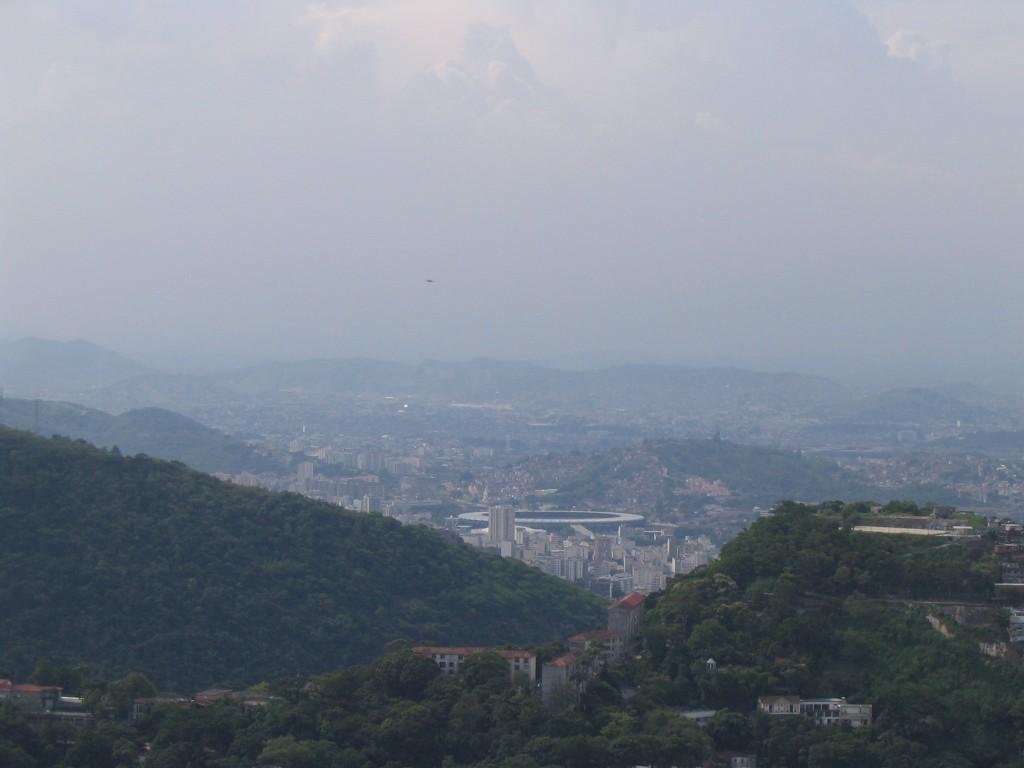 Das Maracana-Stadion 2008 von der Aussichtsplattform der Christus-Statue fotografiert. (Foto: Veit)