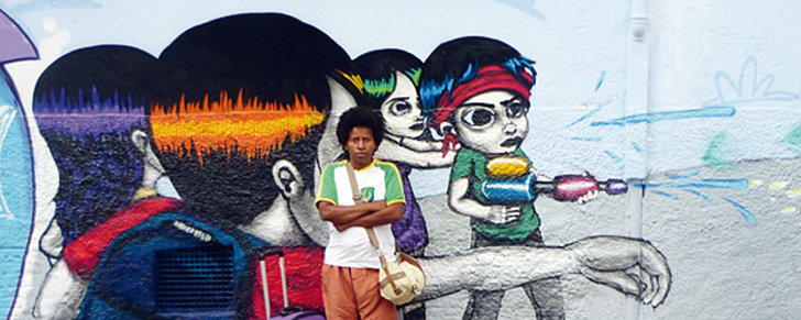 Die Schrin Kunsthalle Frankfurt zeigt Street Art aus Brasilien: hier Walter Nomura, a.k.a. Tinho, 2010, © Courtesy the artist