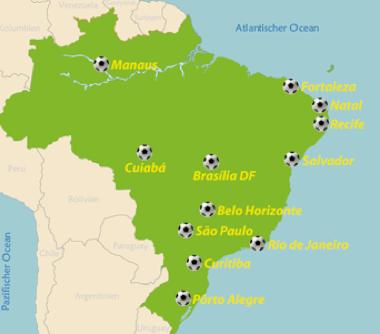 Hier werden die Nationalmannschaften zur Fußball-WM in Brasilien gegeneinander antreten. ©brasilienportal.ch