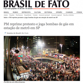 """Die Homepage von """"Brasil de Fato"""" empfiehlt Claudio Hampf. ©Screenshot Miriam Eckert"""
