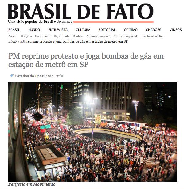 """Die Homepage von """"Brasil de Fato"""" empfiehlt Claudio Hampf für die Tatubola WM-Serie. ©Screenshot Miriam Eckert"""