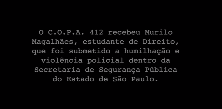 Das Schicksal des Studenten Murilo Magalhães aus São Paulo beschäftigt die Brasilianer schreibt Maria Regina Tuti an Tatubola. © Screenshot/Youtube http://www.youtube.com/watch?v=EUutmUF8zc4