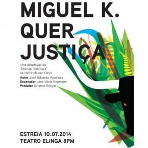 """Das Theaterstück """"Miguel quer Justiça"""" basiert auf der Novelle """"Michael Kohlhaas"""" von Heinrich von Kleist. Das Stück feiert im Juli Premiere in Luanda, der Hauptstadt von Angola. © Neumann"""