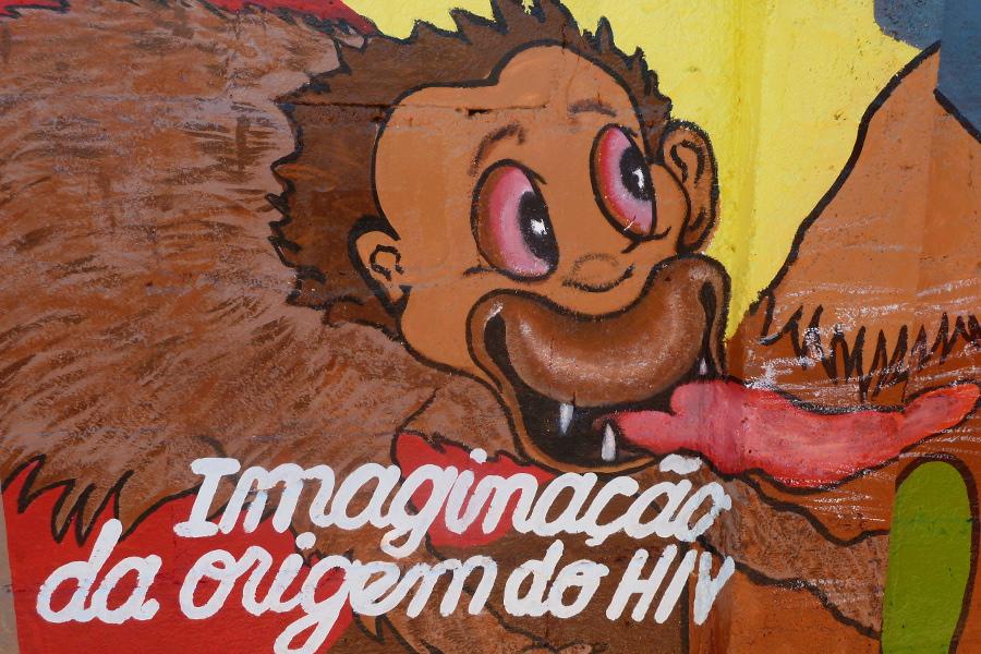 Wandmalerei zur Aids-Aufklärung in Moma, Mosambik. © Miriam Eckert