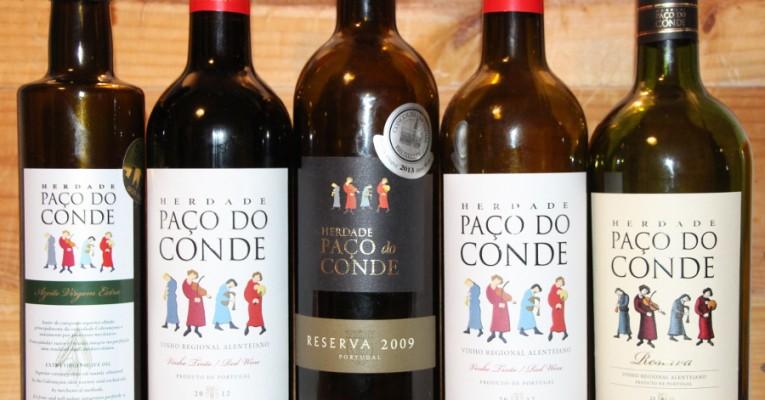 Rotweine und Olivenöle produziert die Herdade Paco do Conde im portugiesischen Alentejo. © Miriam Eckert