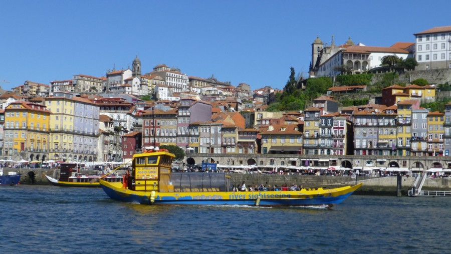 rabelo schiff auf dem douro